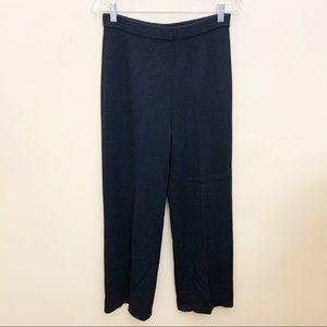St. John Santana Knit  Black Pants Size 10
